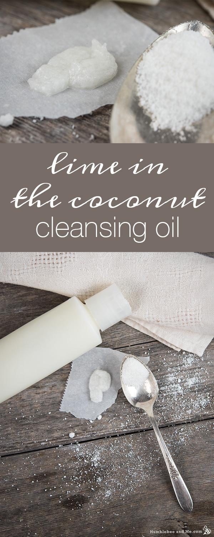 Лайм в кокосовом очищающем масле для лица