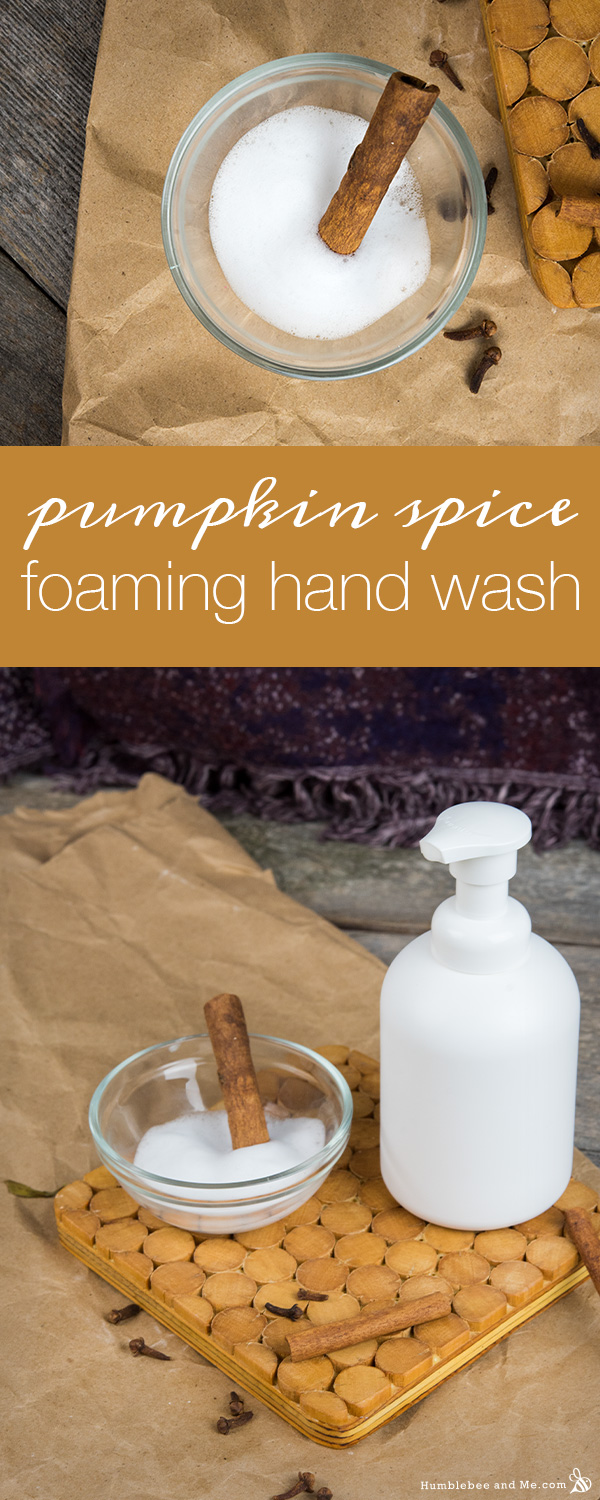 How to Make Pumpkin Spice Foaming Hand Wash
