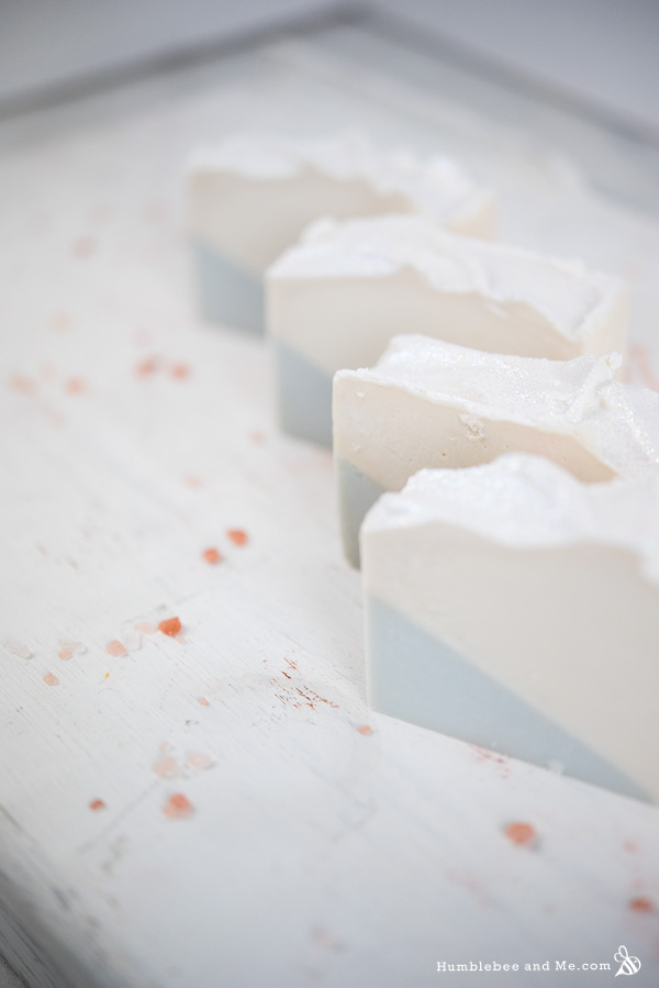How to Make Snowflake Christmas Soap
