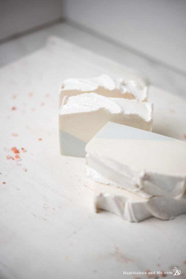 How to Make Snowflake Christmas Soap