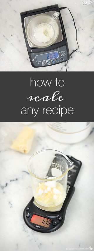 How to Scale Any Recipe