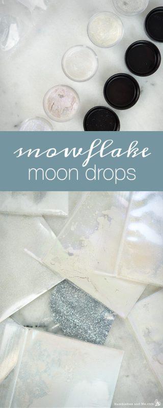 Diy homemade christmas gift ideas 2017 edition humblebee me snowflake moon drops solutioingenieria Image collections