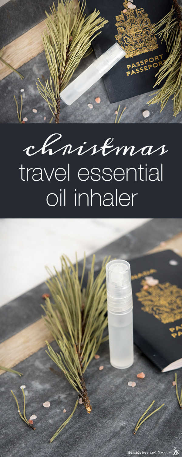 How to Make a Christmas Travel Essential Oil Inhaler