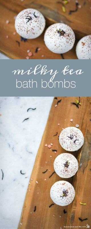Milky Tea Bath Bombs