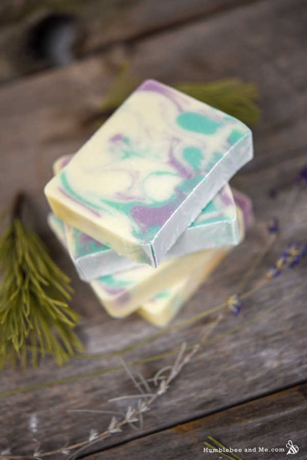 How to Make Lavender Spruce Soap