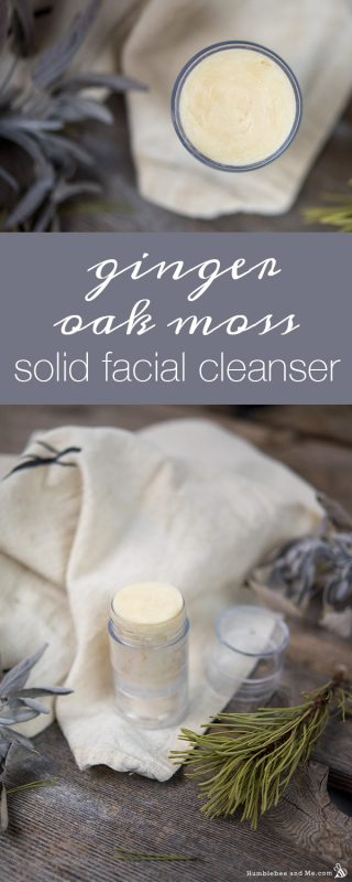 Ginger Oak Moss Solid Facial Cleanser