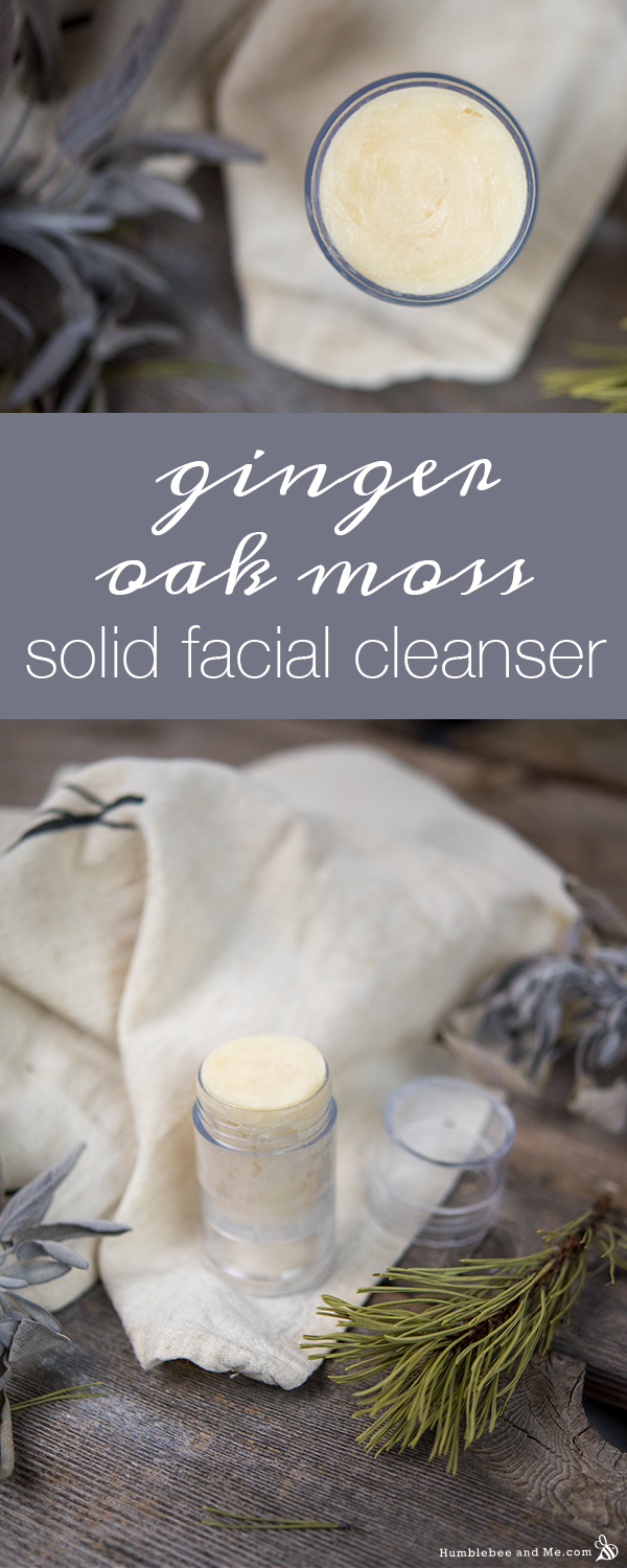 How to Make a Ginger Oak Moss Solid Facial Cleanser