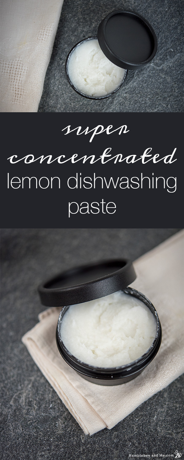 How to Make Super Concentrated Lemon Dishwashing Paste