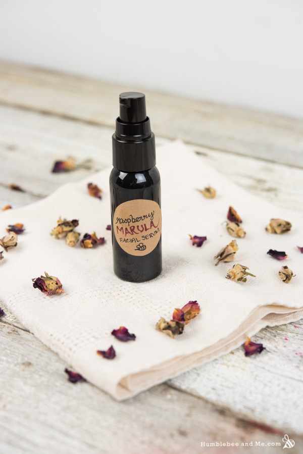 How to Make Raspberry Marula Facial Serum