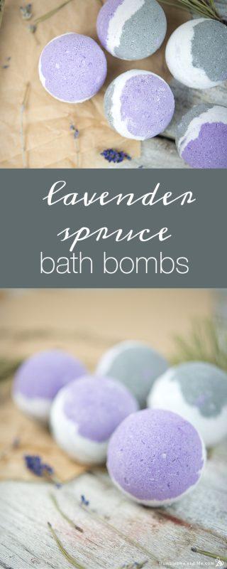 Lavender Spruce Bath Bombs