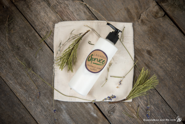 How to Make Lavender Spruce Creamy Hand Wash