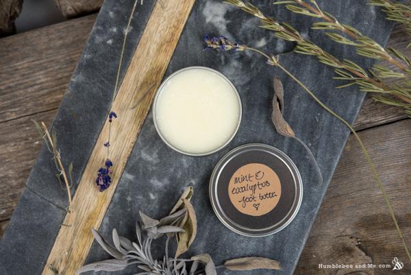 How to Make Eucalyptus Mint Foot Butter
