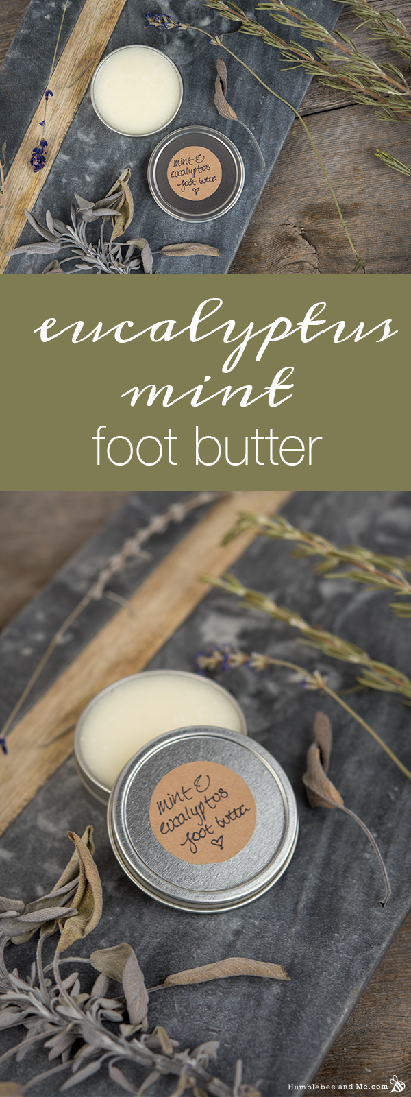 How to Make Eucalyptus Mint Foot Butter