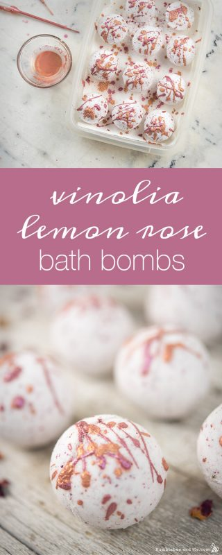 Vinolia Lemon Rose Bath Bombs