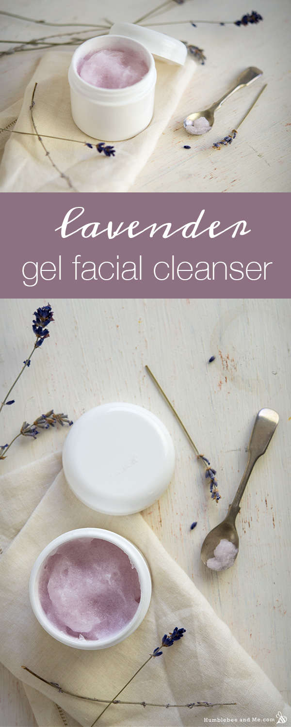 How to Make Lavender Gel Facial Cleanser