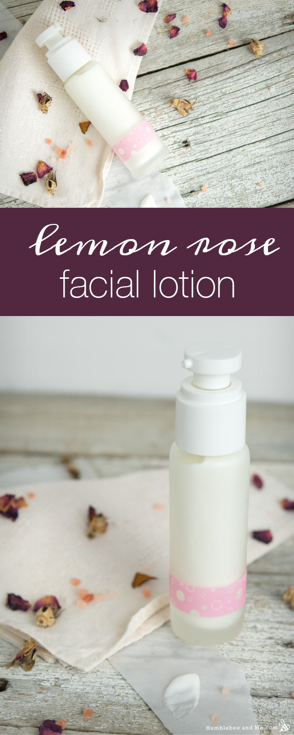 How to Make Lemon Rose Facial Lotion