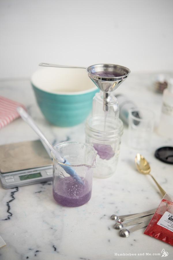 How to Make Lavender Spruce Shower Gel