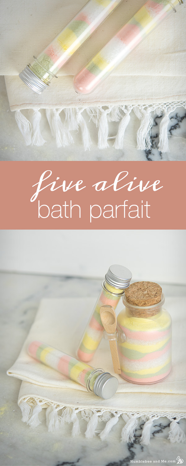How to Make Five Alive Citrus Bath Parfait