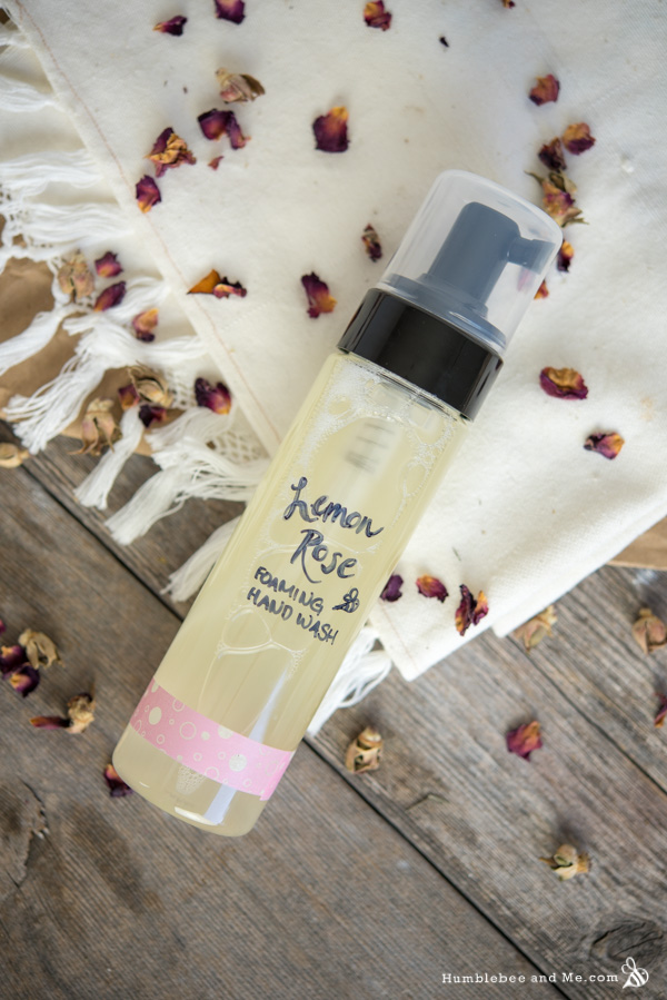 How to Make Lemon Rose Foaming Hand Wash