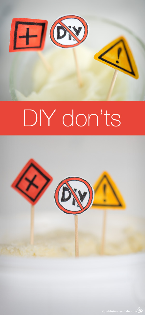 DIY Don'ts: Things You Shouldn't DIY