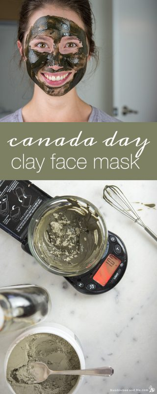 Canada Day Clay Face Mask