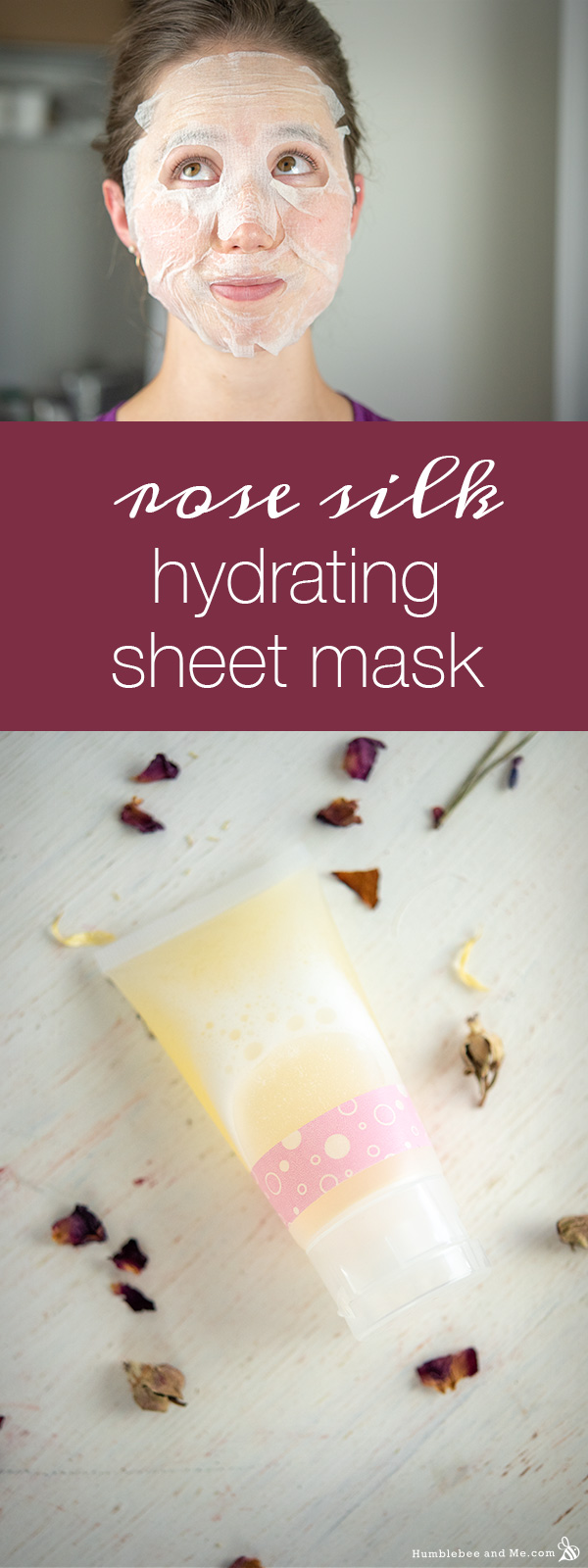 How to Make a Rose Silk Hydrating Sheet Mask