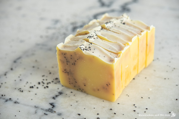 How to Make Citrus Poppy Seed Swirl Soap