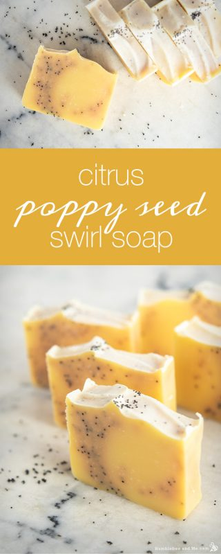 Citrus Poppy Seed Swirl Soap