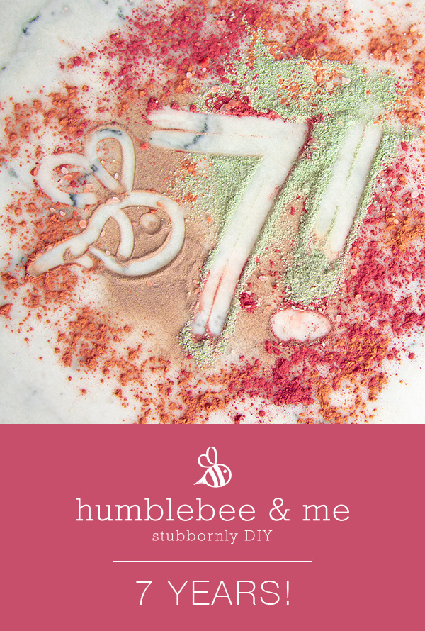 Happy seventh birthday, Humblebee & Me!