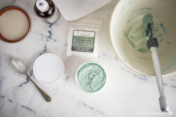 How to make Whipped Minty Foot Scrub