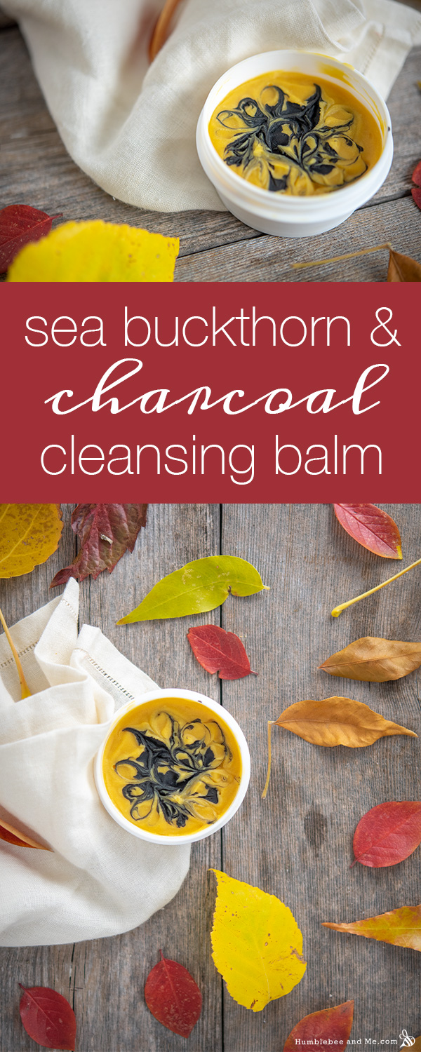 How to Make Sea Buckthorn and Charcoal Cleansing Balm