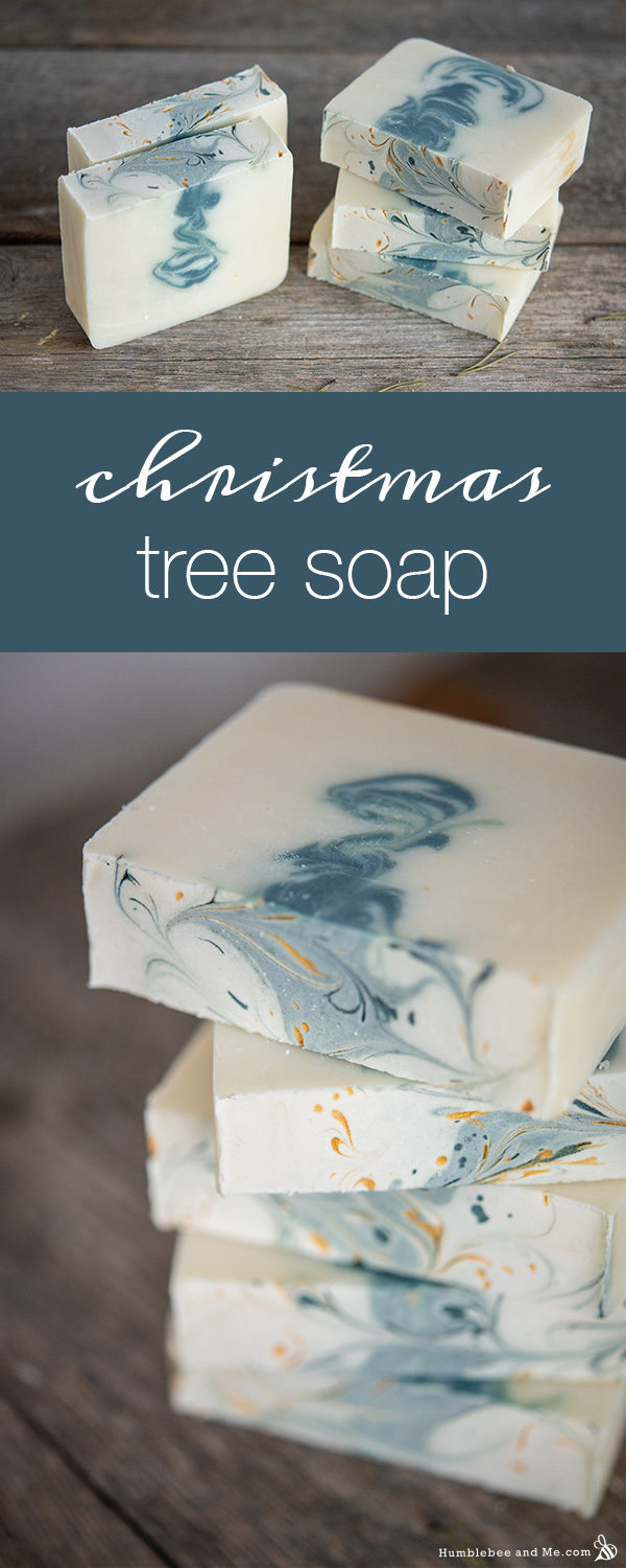 How to Make Christmas Tree Soap