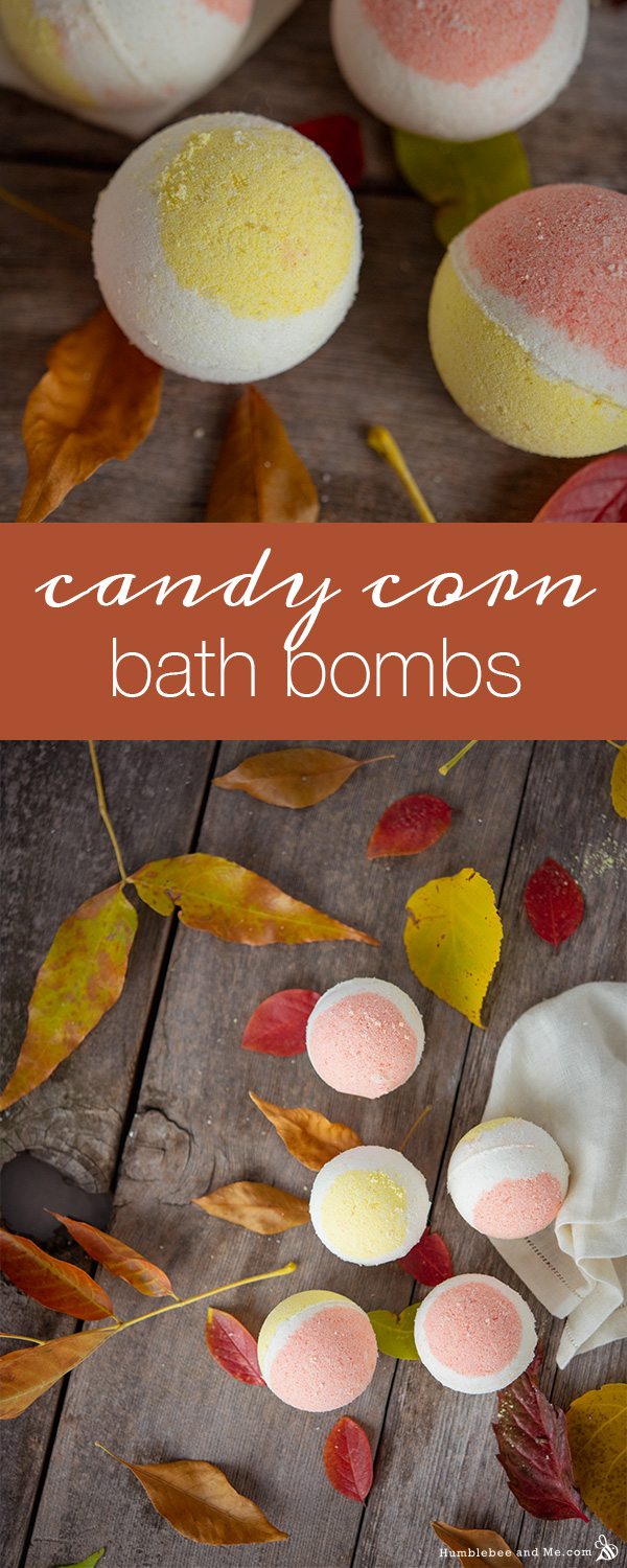 How to Make Candy Corn Bath Bombs