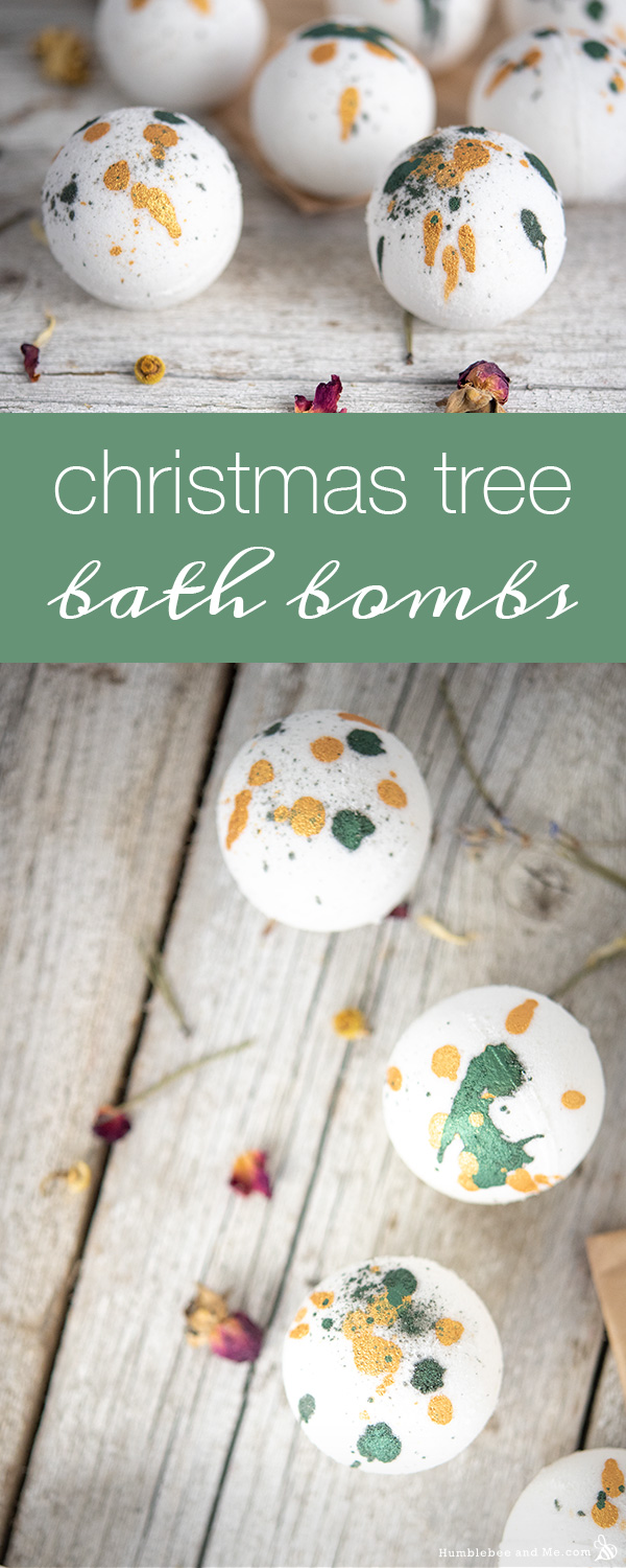 How to Make Christmas Tree Bath Bombs