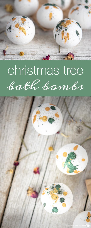 How to Make Christmas Tree Bath Bombs