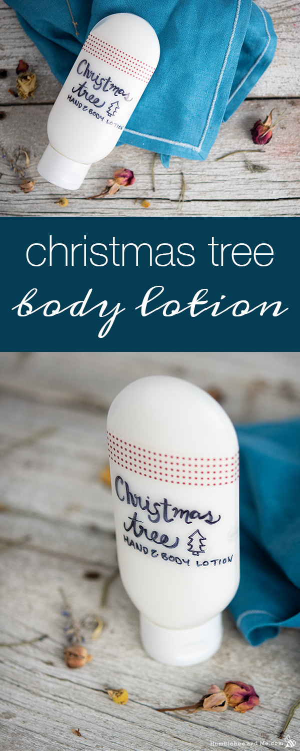 How to Make Christmas Tree Hand & Body Lotion