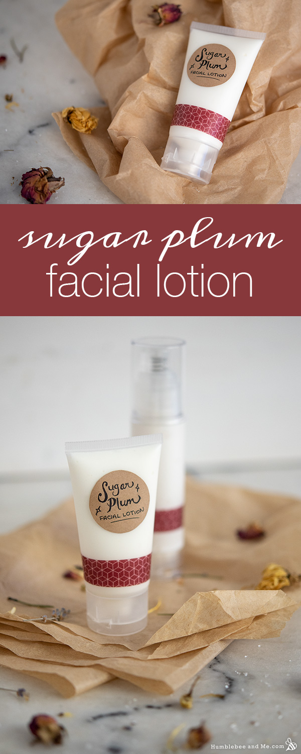 How to Make Sugar Plum Facial Lotion