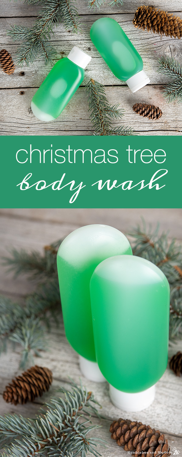 How to Make Christmas Tree Body Wash