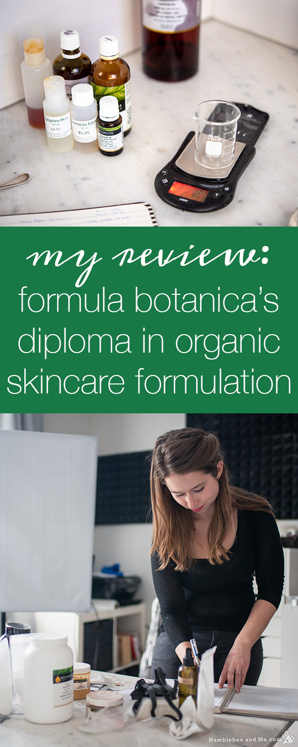 My Formula Botanica Review: Diploma in Organic Skincare Formulation
