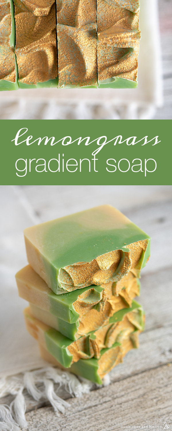 How to Make Lemongrass Gradient Soap