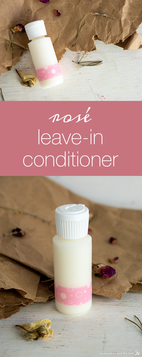How to Make Rosé Leave-In Hair Conditioner