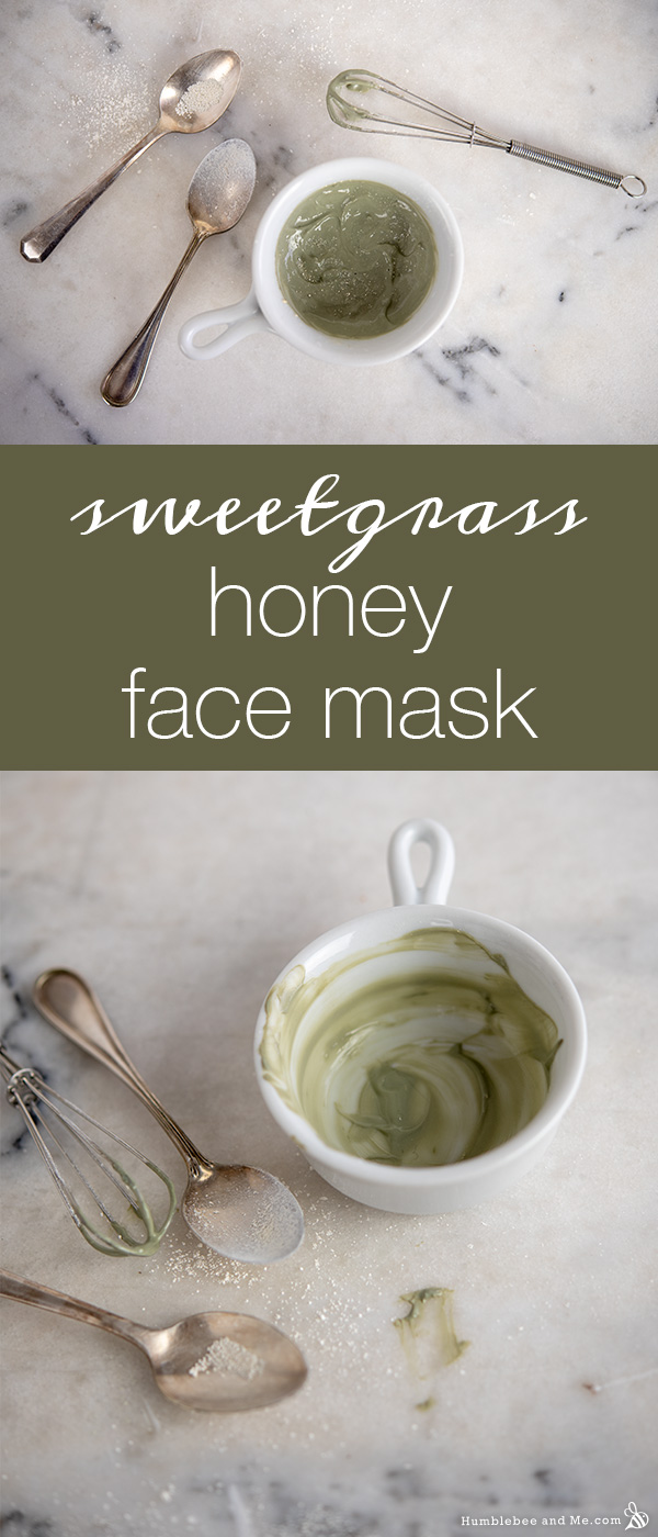 How to Make Sweetgrass & Honey Face Mask