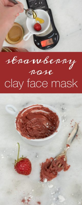 Strawberry Rose Clay Face Mask