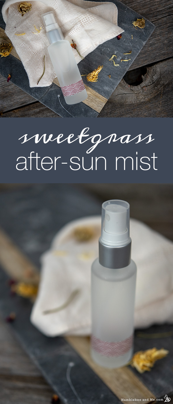 How to Make a DIY Sweetgrass After-Sun Body Mist