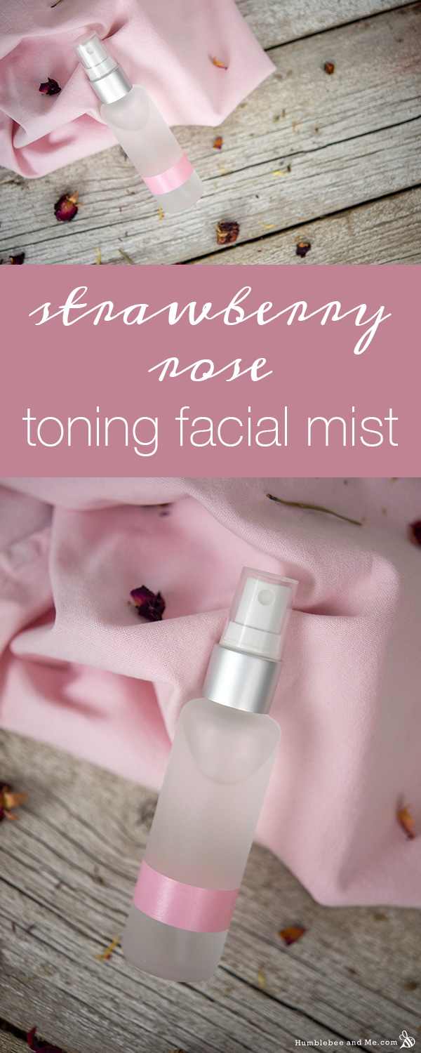How to Make Strawberry Rose Toning Facial Mist