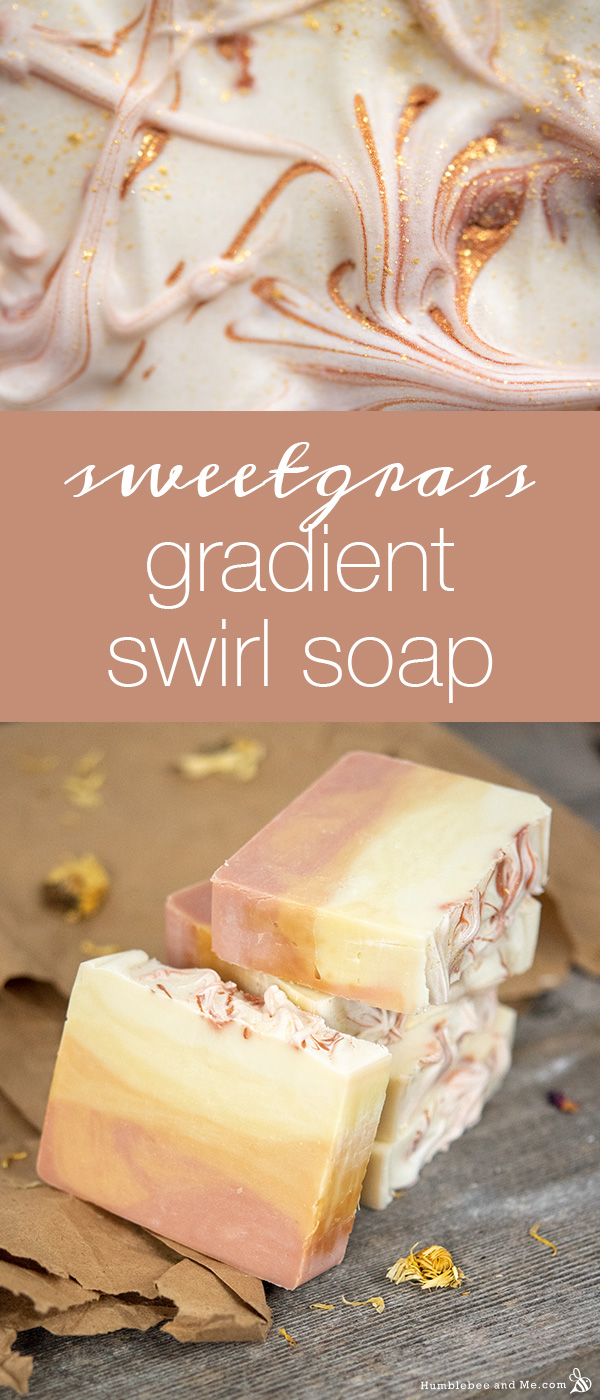 How to Make Sweetgrass Gradient Swirl Soap