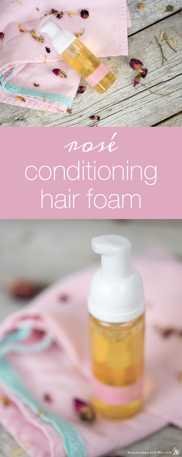 How to Make Rosé Conditioning Hair Foam