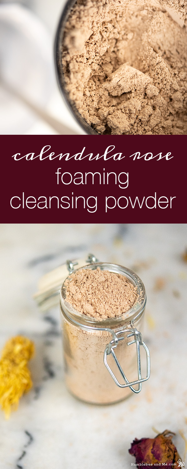 How to Make Calendula Rose Foaming Cleansing Powder
