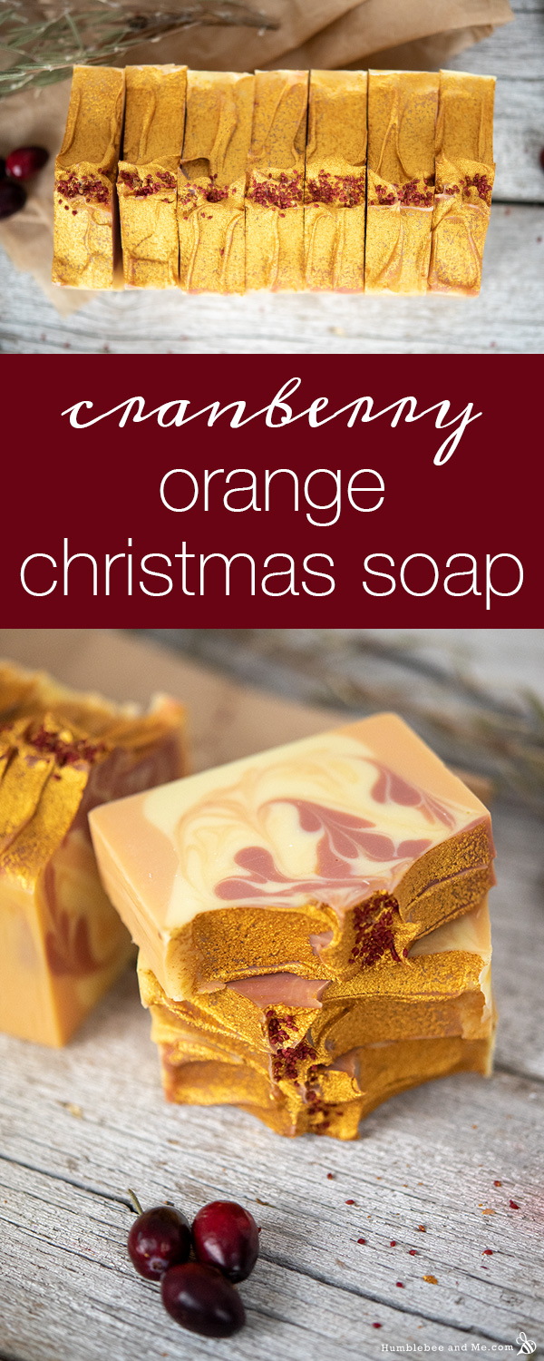 How to Make Cranberry Orange Christmas Soap