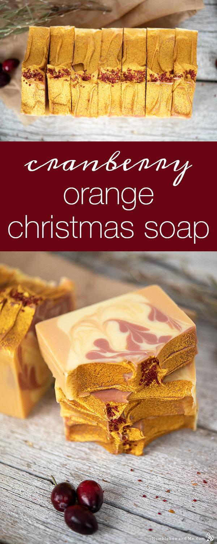How to Make Cranberry Orange Christmas Soap